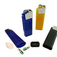 Lighter Shaped Stash Medicine Pill Pills Box Holder Vintage Organizer Case