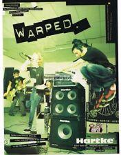 2003 HARTKE Amps & Cabs THE PENNYROYALS Vtg Print Ad