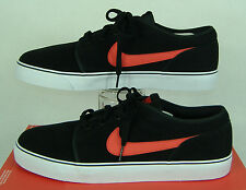 "New Mens 13 NIKE ""Toki Low LTHR"" Black Red Suede Leather Party Shoes $70"