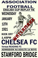 CHELSEA - VINTAGE 1920's STYLE MATCH POSTER