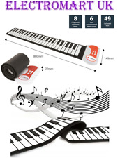 PORTABLE ROLL UP 49 KEY ELECTRONIC KEYBOARD PIANO 8 TONES RECORD FUNCTION