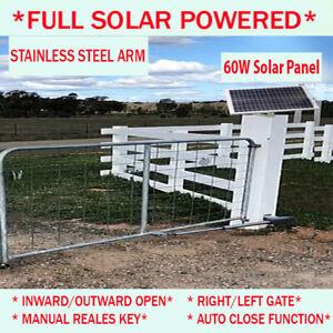 Full Solar Single Swing Gate Opener Kit Automatic Electric 60W 9AH