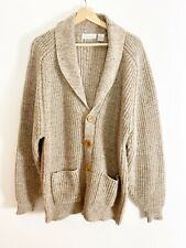 Brian MacNeil Knitwear Sweater Cardigan Size 4X Oatmeal Color Mint condition VTG
