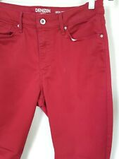 Levis Denizen Women's Size 32 Red High Rise Zip Ankle Skinny Stretch Jeans (H