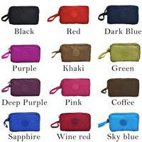 Womens Phone Bag Wallet Three- Zipper Purse Plus Size Coin Purse Case GIFT