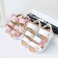 Summer Kids Girl Children Sandals Beach Flower Girls Flat Pricness Shoes Hollow