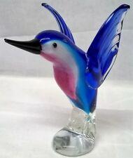 More details for art glass hummingbird figure or paperweight - juliana objets d'art tropical bird