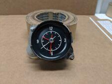 1972 - 1974 Original Corvette Electric Instrument Cluster Clock - White Face