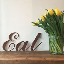 Rusty EAT Lettering Letters Sign Metal Home bar Pub Vintage Shop Cafe