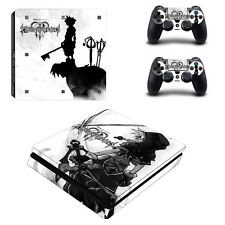 PS4 SLIM Skin Sticker Decal Cover 2 Controllers KINGDOM HEARTS FINAL FANTASY