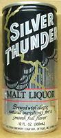 SILVER THUNDER MALT LIQUOR 12oz Beer CAN, Stroh, Detroit, MICHIGAN 7City 1984 1+
