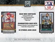 New listing Torii Hunter 2020 Topps Museum Baseball Full Case 12Box Break