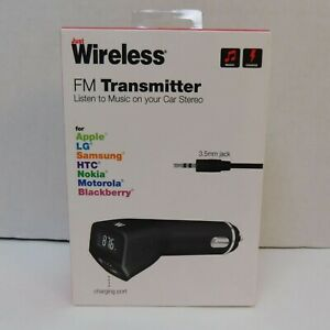 Just Wireless 3.5mm Aux Cable FM Transmitter with 2.4A/12w USB Port Car Charger