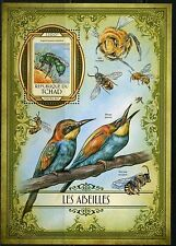 CHAD 2017  BEE EATERS  SOUVENIR SHEET MINT NH