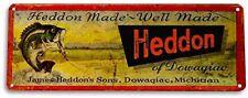 Heddon Fishing Lures Fish Bait Marina Rustic Fish Metal Decor Sign