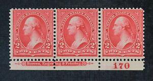 CKStamps: US Stamps Collection Scott#267 Strip Mint NH OG