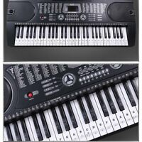 Piano Stickers For 37/49/54/61/88 Key Keyboards Transparent And Removable New