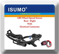 ABS Wheel Speed Sensor W/Connector Rear Right Fits Caliber Compass Patriot W/4WD