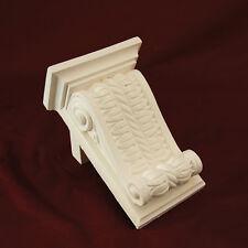 Corbel X2- Traditional Plaster. Medium Rope & Scroll. 210mm High PAIR