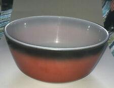 VINTAGE FIRE KING OVEN WARE 8 inch BOWL RED BLACK OMBRE