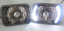 86-95 JEEP WRANGLER  YJ  BLACK GLASS HEAD LIGHTS LED HEADLIGHTS H4