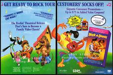 ROCK-A-DOODLE__Original 1992 Trade print AD movie promo__DON BLUTH_GLEN CAMPBELL