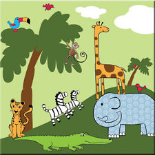 NEW Jungle Animal Canvas Picture - 4KnB