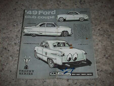 AMT 1949 FORD INSTRUCTIONS/ DECALS ONLY- O.E.  FOR MODEL KIT T149