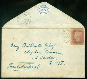 GREAT BRITAIN : 1862. Addressed & Signed cover by Charles Dickens. Very Scarce