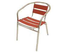 YE-08 Red Aluminium Chairs - Garden Seats - Cafe Chairs - Red Bistro Chairs