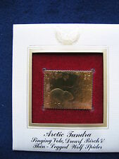 2003 Arctic Tundra Vole, Birch, Wolf Spider 22kt Gold Golden Cover replica Stamp