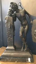 Bronze von Hypolite Moulin A Secret from On High (Secret d'en Haut) Marmorsockel