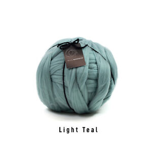 1kg Light Teal Mammoth®   Giant Super Chunky Knit Extreme Arm Knitting Big Yarn