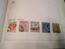 Over 150 British Stamps from Queen Victoria to Qe Ii in Furka Album