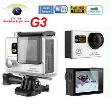 170° G3 WiFi Dual Screen Action Camera Sport Helmat Bike Cam Waterproof DVR HDMI
