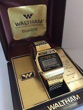 Waltham Alarm Chrono Dual Time lot 1 Quartz LCD LED Watch M