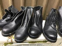 UK BRITISH ARMY SURPLUS ISSUE G1 ODD BLACK AMMO BOOTS LEFT OR RIGHT FOOT,PARADE