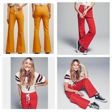 New Free People BLUE Foxy Lace Up Pant Size 0 $128