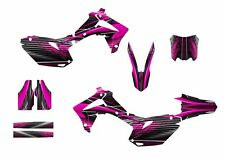 2013 2014 2015 2016 CRF 450R graphics custom decal kit #3333 Hot Pink