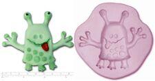 Alien / Espacio Monster # 1 Craft Sugarcraft Fimo Sculpey De Goma De Silicona Molde