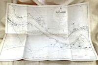 1944 WW2 Mappa Di Il River Thames Broadness Erith Greenhithe Purfleet London