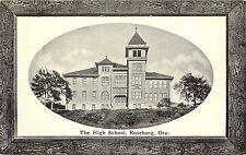 c1910 Postcard Frame Vignette The High School Roseburg Or Douglas Co. Unposted