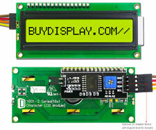 Yellow IIC/I2C Serial 16x1 Character LCD Display Module for Arduino with Library