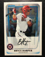 BRYCE HARPER 2011 Bowman CHROME #1 Draft Pick Rookie Card RC