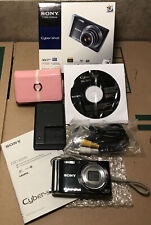 Sony Cybershot DSC-W370 Digital Camera W/battery Charger, Cables, Disc, & Case