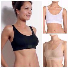 New Sloggi Double Comfort Soft Bra Top 95%25 Cotton 10022574 Black, White, Nude