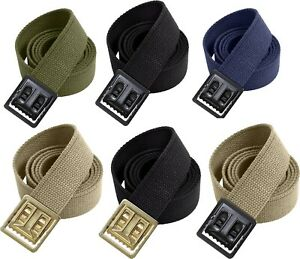 Military Heavy Duty 100% Cotton Web Belt with Open Face Buckle