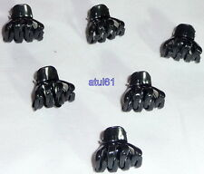 BLACK MINI SMALL HAIR CLAW CLAMPS~HAIR CLIPS~HAIR GRIPS~BULLDOG CLIPS X 6 NEW