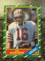 Joe Montana 1986 Topps #156 Football Card San Francisco 49ers