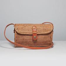 Handwoven Bali Round Rattan Wicker Clutch Bag